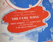 You Came Along (From Out of Nowhere)- Antique Piano Sheet Music by Edward Heyman and John Green- 1931