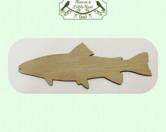 Fish Cut Out (Medium)  Laser Cut Wood