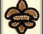 Fleur de lis Crochet pattern 3 1/2 in (Instant Download)