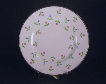 Salad Plate, Royal Victoria, Bone China, Dinner Ware, English China, Vintage, Pink Flowers