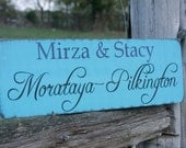 Personalized family name sign. Wedding established sign. Family sign.
