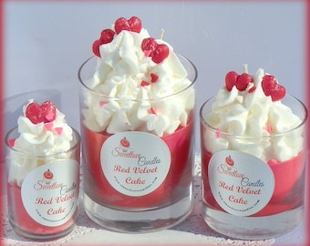 Red Velvet Cake Luxury Soy Cupcake Candle-Valentines