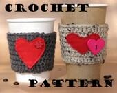 Coffee Cozy Crochet Pattern PDF,Coffee Sleeve, Tea Cozy, Cup Warmer, Crochet Cozy,Easy, Great for Beginners, Pattern No. 5