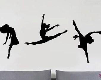 Ballet Dancing - uBer Decals Wall Decal Vinyl Decor Art Sticker Removable Mural Modern A319
