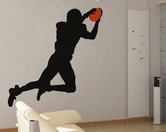 Football Player 3 - uBer Decals Wall Decal Vinyl Decor Art Sticker Removable Mural Modern A383