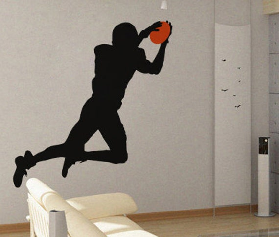 Football Silhouette Wall Graphic