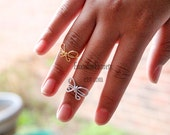 Silver (or Gold) Bow Knuckle Ring