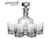 Custom Engraved Taylor Whiskey Decanter Set - Groomsmen Gifts