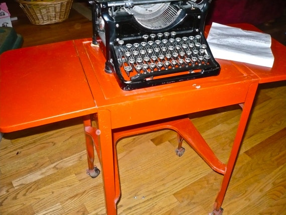 Typewriter Table Upcycled Metal Retro Typewriter Stand