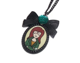 Daria Morgendorffer Necklace, Black Cameo 90's TV
