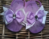 Purple Lavender Sparkle Tulle Flip Flop Sandals