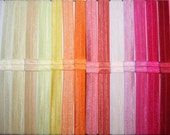 You Choose - 75 Fold Over Elastic (FOE) 5/8 Inch Headbands - Over 50 Colors to Choose From - Interchangeable - SPEEDY SHIPPING