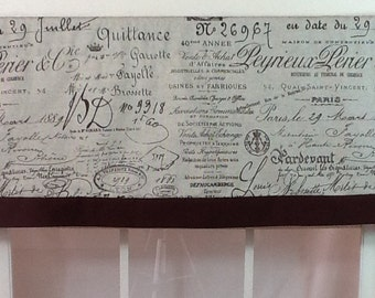 French script banded straight valance