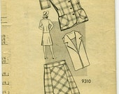 Marian Martin 9310: 1940s Trim Suit Pattern with Skirt, Jacket and Dickey. Size 16, Bust 34.