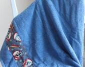 Dark Blue Thomas the Train Bath/Beach Hooded Towel