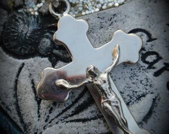 Genuine Sterling Silver Crucifix Pendant