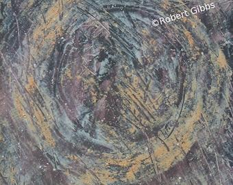 Art Painting, Acrylic, Mixed Media, Textured, Zen Enso, Meditation, Original Abstract Art, Earthy Decor