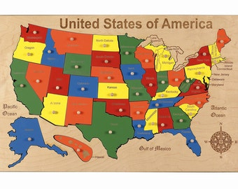 USA Map puzzle - FREE SHIPPING