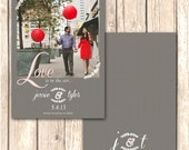 Romantic Photo Save the Date Cards--5x7, Fully Customizable, Vintage Flair, Personalize with Photo, Message, Wedding Date, etc.