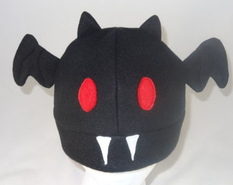 Black Fleece Bat Hat
