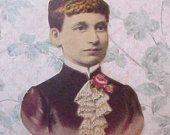 Charming Little Victorian Lady from Victorian Scrapbook