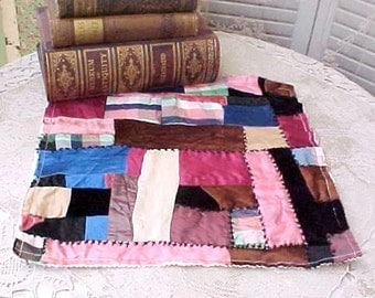 Pretty Square From Late Victorian Style Crazy Quilt