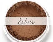 """Eyeshadow Sample - """"Eclair"""" - chocolate brown dark brown color with matte finish (Vegan) Mineral Makeup Eyeliner"""