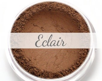 "Eyeshadow Sample - ""Eclair"" - chocolate brown dark brown color with matte finish (Vegan) Mineral Makeup Eyeliner"