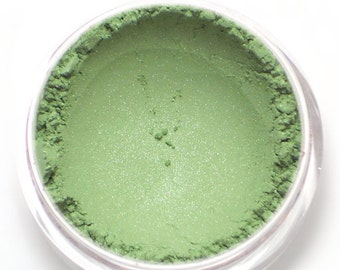 "Green Eyeshadow - ""Pistachio"" - Light Shimmer Green Vegan Mineral Eyeshadow Net Wt 2g Mineral Makeup Eye Color Pigment"