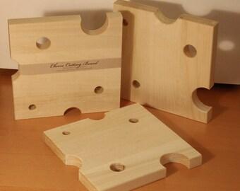 Wood Cheese Board / Serving Platter / Cutting Board / Trivet / Hot Plate