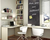 "Black Board Chalkboard vinyl decal 24"" X 40""  - Make Your Own Chalkboard Area - Cut It To Any Shape Or Size You Need - ID413"