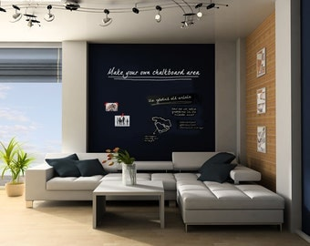"""Chalkboard Vinyl Wall Decal 24"""" X 160"""" Make Your Own Chalkboard Area - Cut It To Any Shape Or Size You Need - ID416"""
