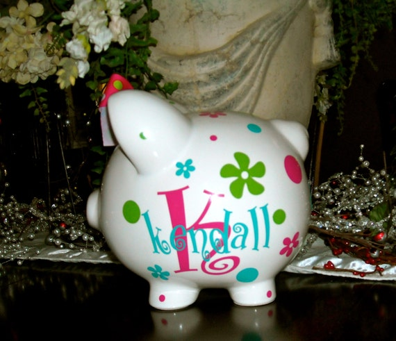 Personalized large piggy bank for Make your own piggy bank