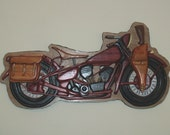 SOLD- Custom Order 1942 Harley Military Style Motorcycle Wall Hanging