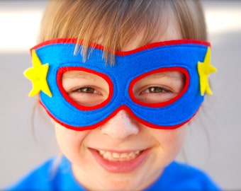 Customized Children's Superhero Package - Shirt, Cape, and Mask