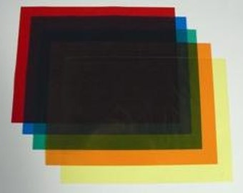 Transparent Colored Sheets - Origami & Craft Paper (Squares)