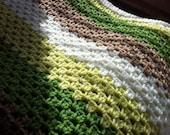 Stripe Hand Knitted Blanket