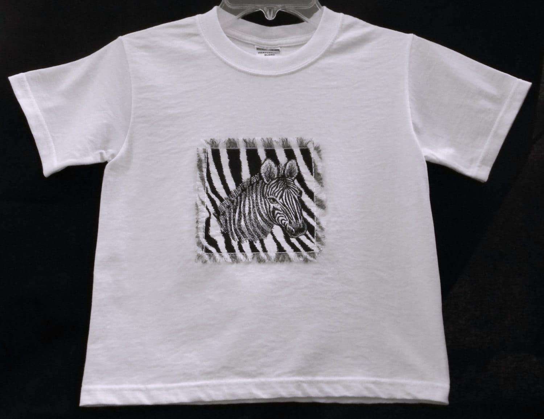 Zebra T Shirt Zebra Embroider...