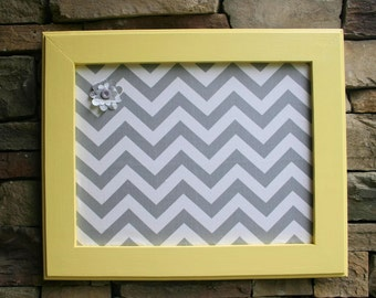 """18""""x22"""" Pale Yellow Frame with Fabric Cork Board"""