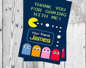 "Arcade Party Favor Tag, 2.5"" x 4"" Small, Printable Birthday Thank You Card Gift Tags, DIY, YOU PRINT"
