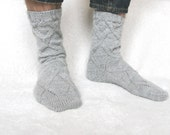 READY-TO-SHIP Warm wool washable hand knitted stylish socks for man
