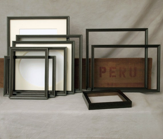 9x9 picture frame peruvian walnut dark exotic wood
