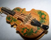Vintage Violin Small Decorative Violin Wooden Violin