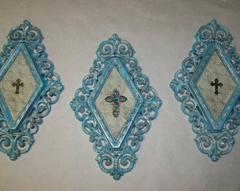 Upcyled Crosses Plaques Cross Wall Hangings Cross Plaques