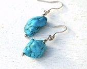 Turquoise nugget earrings - BOHO Jewels