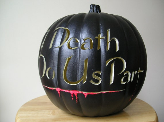 Halloween Wedding Carved Decorative Pumpkin