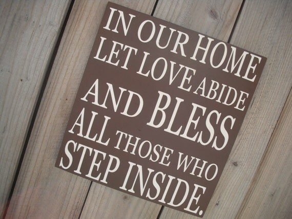 Items Similar To IN OUR HOME Let Love Abide
