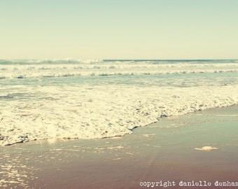 Beach Photography Oregon Coast Ocean Pastel Blue--Fine Art Lomography 8x12