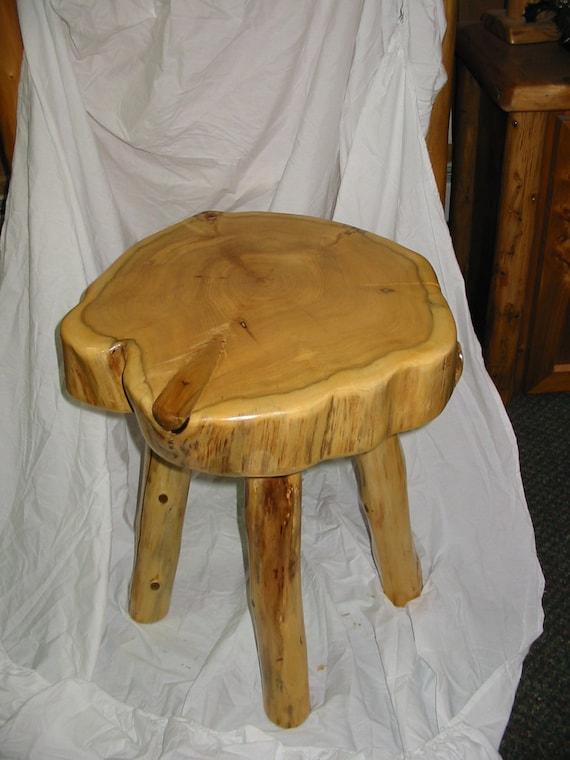 round log end table. Black Bedroom Furniture Sets. Home Design Ideas