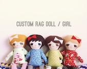 Custom cloth rag doll / GIRL